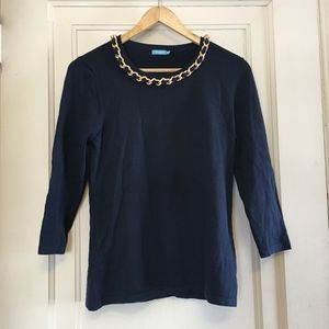J. McLaughlin Chain neck sweater